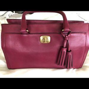 Burgundy purple Coach bag